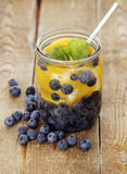 Bilberry drink with lemon Royalty Free Stock Image
