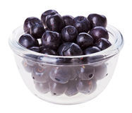 Bilberry fruit in transparent glass Stock Photo