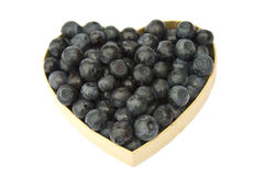 Bilberry heart royalty free stock image