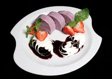 Bilberry parfait Royalty Free Stock Photography