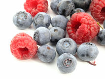 Bilberry and Raspberry Stock Photography