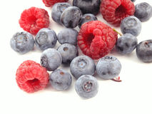 Bilberry and Raspberry Royalty Free Stock Photo