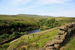 Bilberry Reservoir. Is situated near Holme Bridge on the moorland edge surrounded by farmland. Nearby is Holmfirth in west Yorkshire England, home of the Stock Images