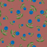 Bilberry seamless background pattern Royalty Free Stock Photo