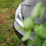 Bilbillyktor Lyxiga billyktor royaltyfria bilder