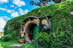 Bilbo Baggins house in Hobbiton, Matamata, New Zealand Stock Photos