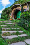 Bilbo Baggins house in Hobbiton, Matamata, New Zealand Royalty Free Stock Photography
