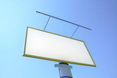 Bilboard. Empty bilboard on a sky background Stock Image