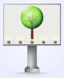 Bilboard advertisement for save trees  Royalty Free Stock Images