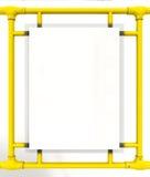 Bilboard Blank in bus - 3D Render Stock Photo