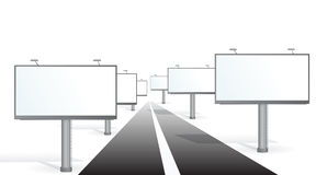 Bilboards near road Royalty Free Stock Photo