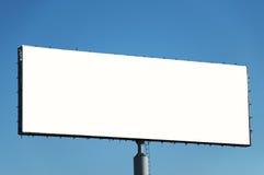 Bilbord  advertising. Billboard advertising for a blue sky Stock Photos