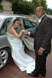 bilbröllop royaltyfri bild