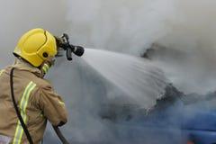 Bilbrand och explosion Fotografering för Bildbyråer
