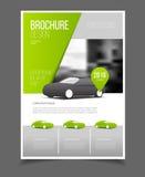 Bilbroschyr Auto desig för format för mall A4 för broschyrbroschyrreklamblad stock illustrationer