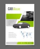 Bilbroschyr Auto desig för format för mall A4 för broschyrbroschyrreklamblad vektor illustrationer