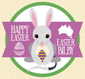 Bilby with a Paschal Egg for Australian Easter, Vector Illustration Stock Image