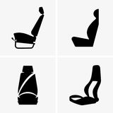 Bilchaufförplats vektor illustrationer