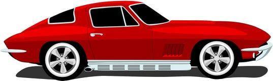 bilcorvette s sportar 1960 royaltyfri illustrationer