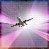 Bild über Flugzeug lizenzfreie stockfotos