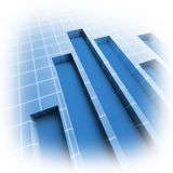Bild 3d des Finanzstatistikdiagramms Lizenzfreies Stockbild
