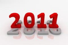 Bild 3D von 2011 getrennt (Rot) Stockfoto