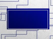 Bild auf der Wand, Wiedergabe 3d, Lizenzfreie Stockfotografie