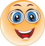Smiley mit Gläsern Stockfoto