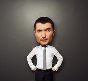 Bild av affärsmannen med det stora huvudet Royaltyfri Fotografi