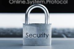 Bild av begreppet för datorsäkerhet Royaltyfria Bilder
