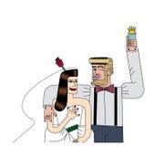 Bild av bruden och brudgummen Arkivfoton