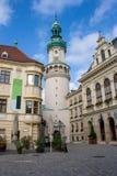 Bild av centret av den historiska staden av Sopron arkivfoto
