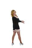 Bild av den blonda flickan med exponeringsglas royaltyfri fotografi