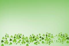 Bild av den gröna treklövern royaltyfri illustrationer