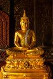 Bild av den guld- buddha statyn Royaltyfri Foto