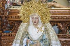 bild av den jungfruliga Maryen inom en kyrkliga Marbella, Andalucia Spa royaltyfri foto