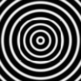 Bild av den ljusa difusionen med den inverterade fyrkanten i den Arkivbild