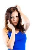 Bild av den lyxiga försiktiga kvinnan arkivbilder