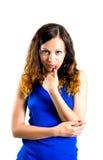 Bild av den lyxiga försiktiga kvinnan Arkivbild