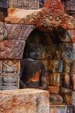 Bild av den sittande Buddha i den Borobudur templet, Jogjakarta, Indonesien royaltyfri fotografi