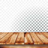 Bild av den wood tabellen för perspektiv på vit bakgrund Royaltyfri Illustrationer