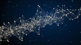 Bild av det abstrakta nätverket Arkivbild