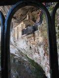 Bild av det Covadonga kapellet, Santa Cueva fristad, Asturias, Spai Royaltyfri Fotografi