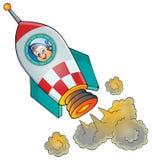 Bild av det lilla rymdskeppet Arkivbild