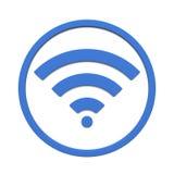 Bild av det olika wifiteckensymbolet som isoleras på en vit bakgrund framförande 3d stock illustrationer