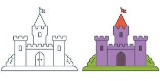 Bild av en medeltida slott vektor illustrationer