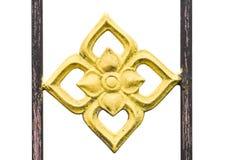Bild av ett dekorativt gjutjärnstaket Royaltyfria Bilder