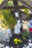 Bild av ett minnes- kors för olycksoffer arkivbilder