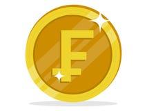 Bild av ett symbol för fransk franc vektor illustrationer