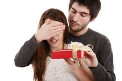Bild av ett ungt par, valentindagbegrepp Royaltyfri Foto